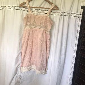 Pale Pink Mini Dress
